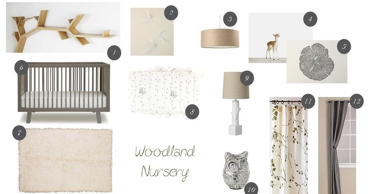 Gender Neutral Nursery Natural Wood Crib