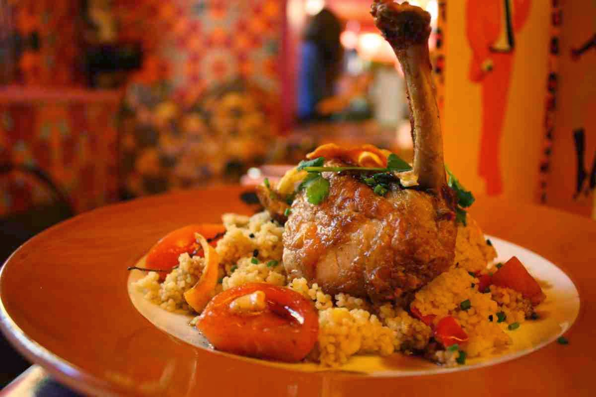 Guinea fowl on couscous