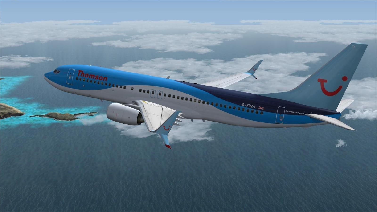 FSRepainter: TDS 737-800SSW Thomson Airways G-FDZA