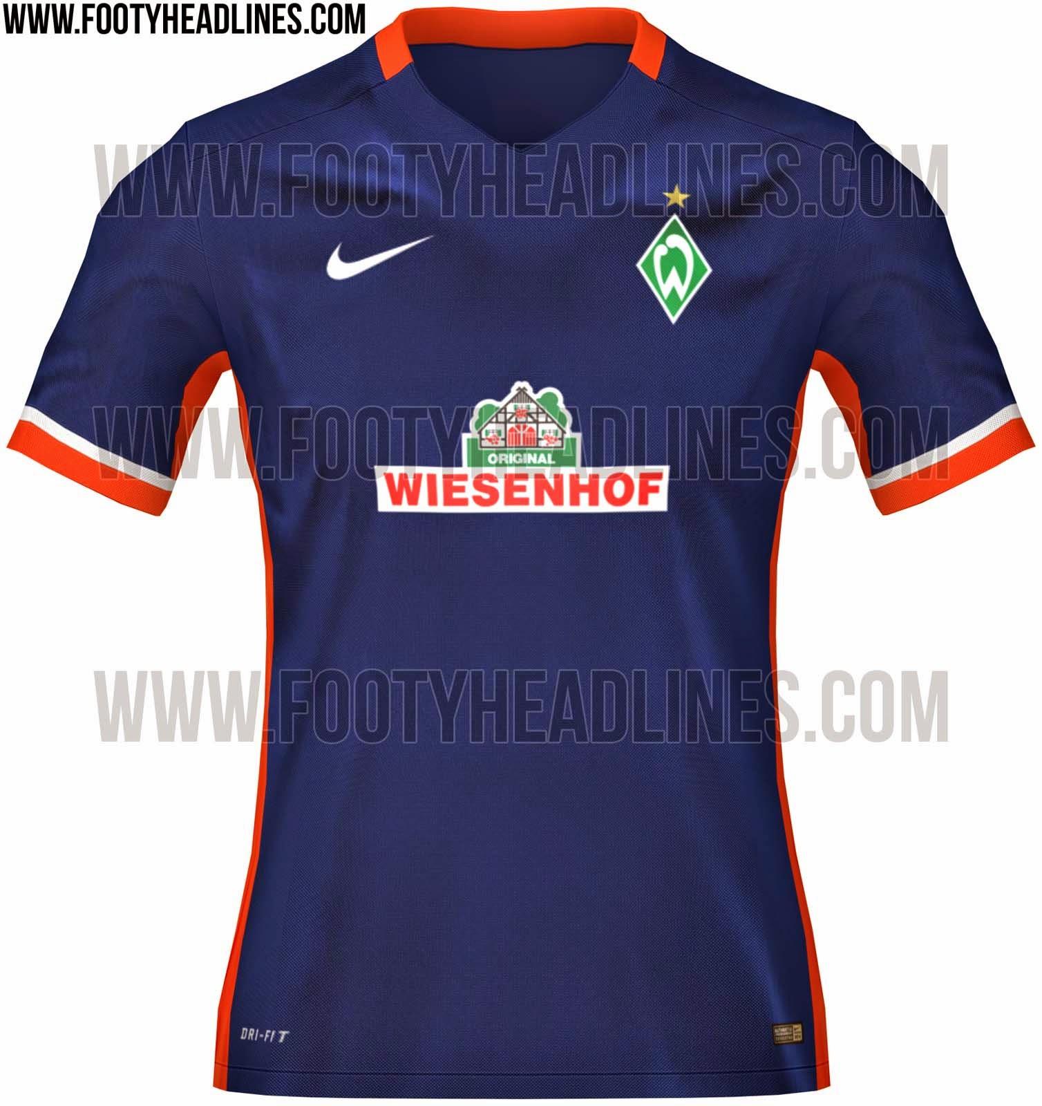 00eeffe79e O Werder Bremen confirmou na última semana como será sua camisa de mandante  para próxima temporada. O modelo reserva ainda não foi divulgado