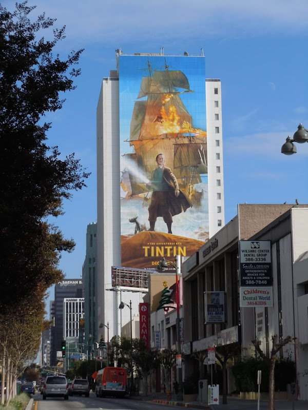 Giant Tintin billboard Wilshire Blvd