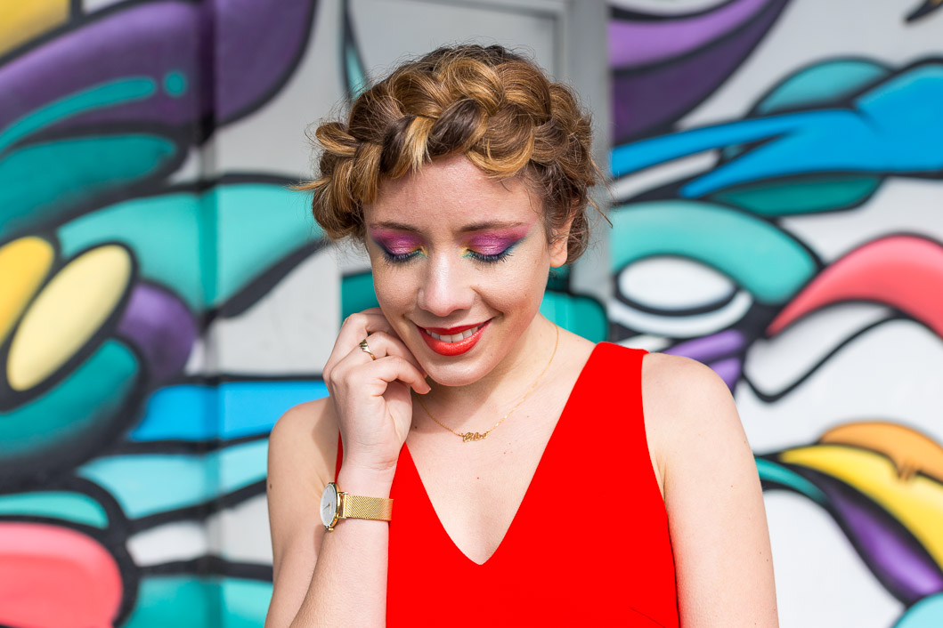 Blogueuse mode beauté maquillage coloré