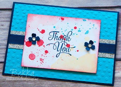 Memories in the Making Project Lift by Stampin' Up! UK Thank You Card
