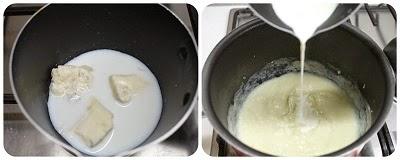Crema cavolfiore e gorgonzola con crostini alla paprika