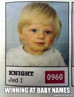 Jedi Knight star wars fan baby names