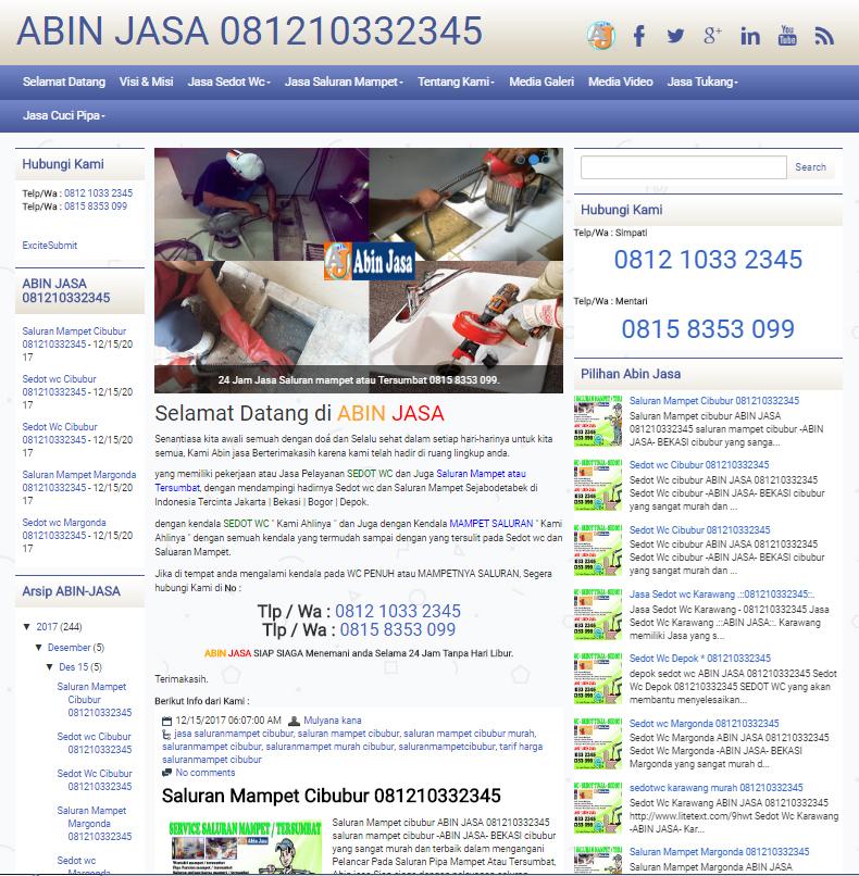 Sedot wc & jasa Pipa Saluran Mampet | ABIN JASA
