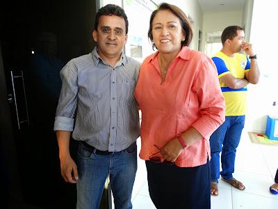 Resultado de imagem para fotos de naldinho prefeito de sao paulo do potengi com fatima bezerra