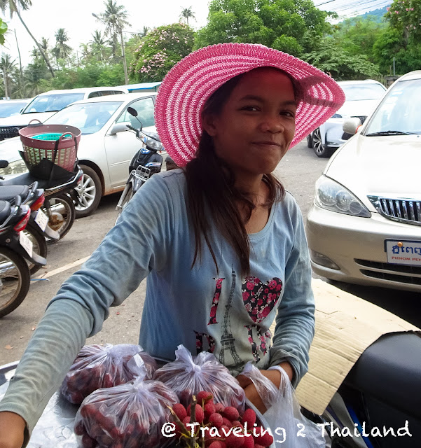 Cambodian girl in Kep