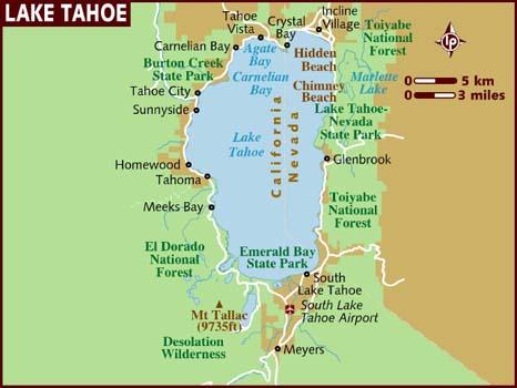 South Lake Tahoe Mapa