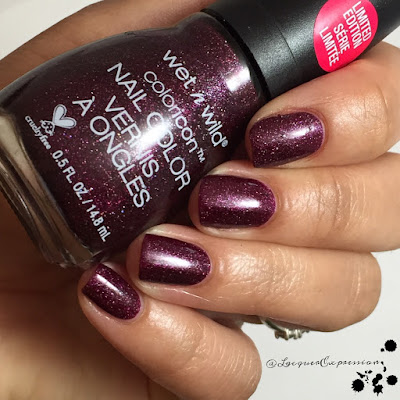 nail polish swatch of Holiday Wine and Spirits from the we're the wild cats holiday collection by wet n wild