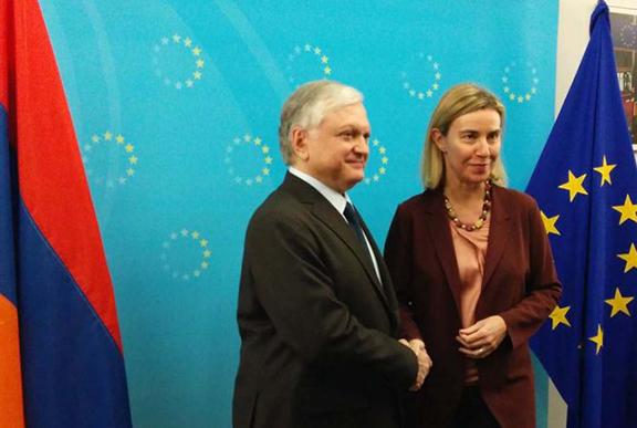 Mogherini: Armenia y Europa nunca han estado más cerca