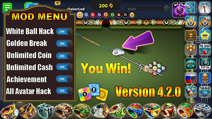 8 Ball Pool Mega Mod Version 4.2.0 (MOD, Extended Stick Guideline) free on android