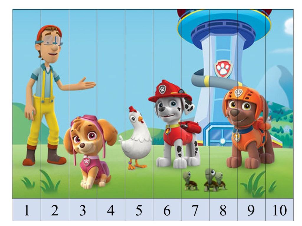 Para Imprimir Puzzles De Patrulla Canina