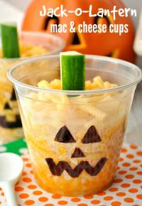 Halloween Party Ideas Mac and Cheese Cups