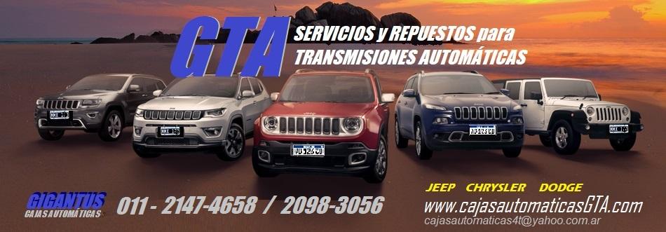 Servicio de Caja automatica Jeep cherokee patriot wrangler compass