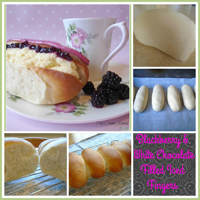 How to make Blackberry & White Chocolate Filled Iced Fingers
