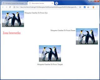 Mengatur Posisi Gambar Dan Teks