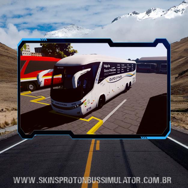Skin Proton Bus Simulator Road - G7 1200 Volvo B12R Viação Ouro e Prata