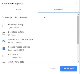 Clear Browsing Chrome Data