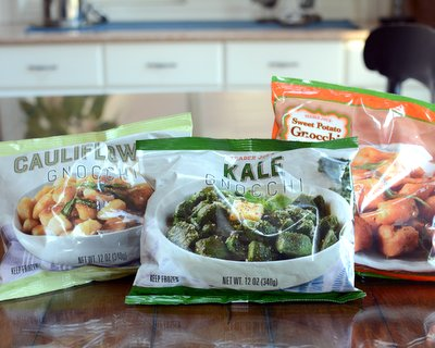 Trader Joe's Cauliflower, Kale and Sweet Potato Gnocchi product reviews ♥ A Veggie Venture.
