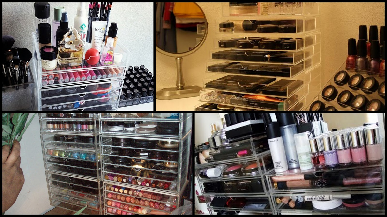 le boudoir d 39 ines comment ranger son make up quand on commence avoir une collection. Black Bedroom Furniture Sets. Home Design Ideas