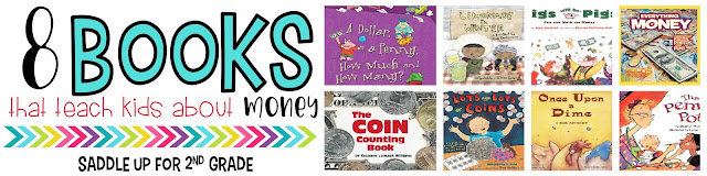This blog post features 8 children's book that you can use to tie in literature to your money unit.