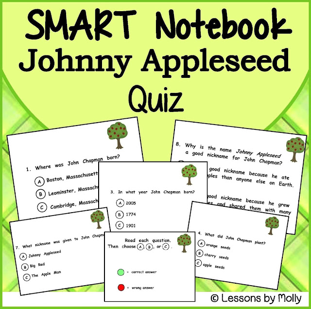 https://www.teacherspayteachers.com/Product/Johnny-Appleseed-Multiple-Choice-Quiz-SMART-Notebook-884870