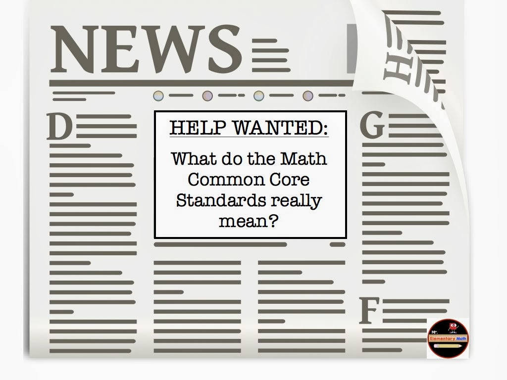 Mr Elementary Math Help Wanted What Do The Math Common