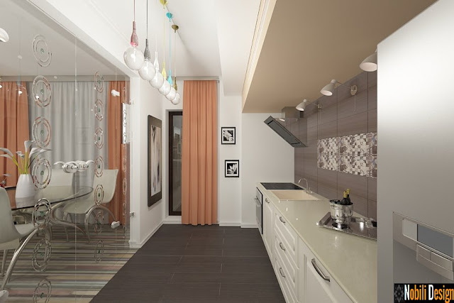 Design interior apartament modern 4 camere - Amenajari interioare case moderne| Amenajare bucatarie apartament modern - Constanta.