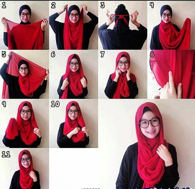 Tutorial Hijab Pashmina Untuk Wajah Bulat Dan Tembem Hijab Review