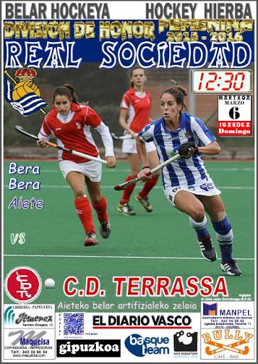 Cartel hockey 2016-03-06 Real Sociedad - C. D. Terrassa