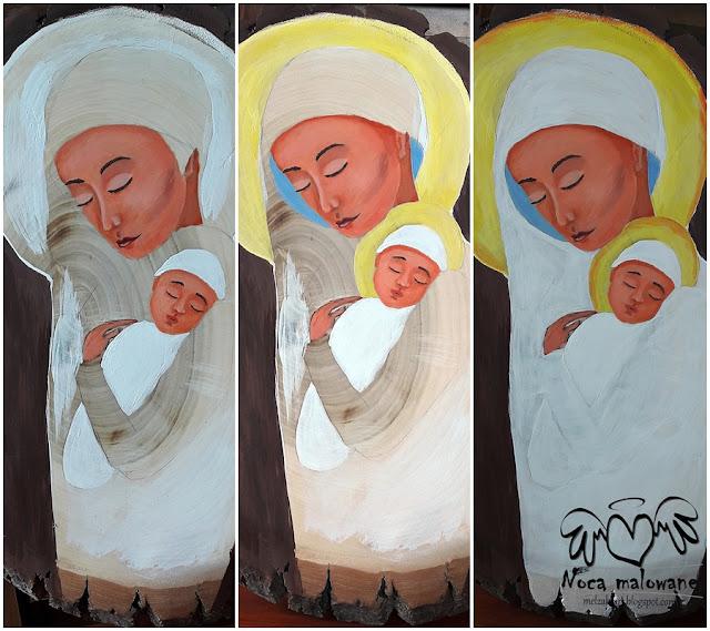 Matka z dzieckiem w bieli