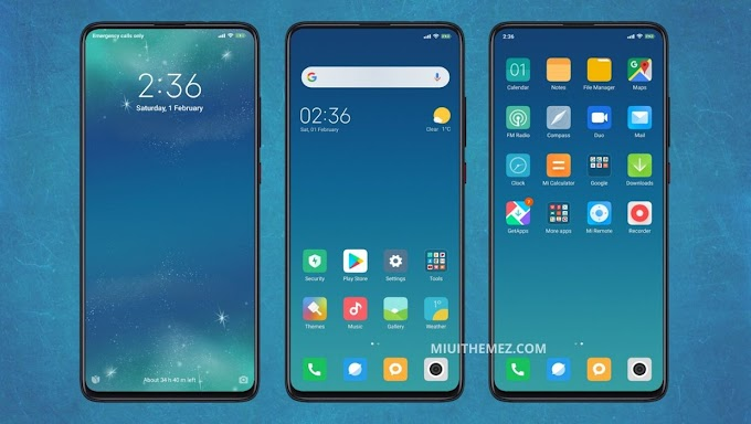 Classic v11 v2 MIUI Theme | Cool Blue Layout with WhatsApp Themed