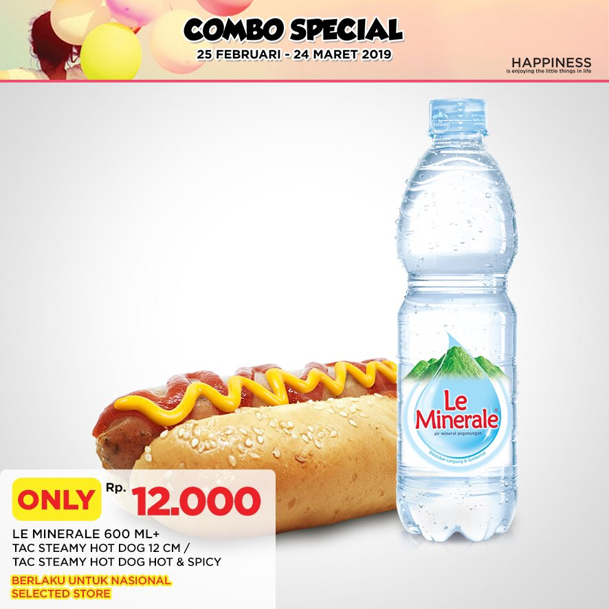 #CircleK - #Promo Combo Spesial Hot Dog + Le Minerale 600ml Cuma 12K (s.d 24 Mar 2019)