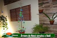TV CÓRREGO - Árvore de natal simples e fácil