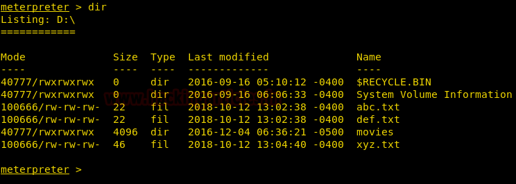 Meterpreter File System Commands Cheatsheet
