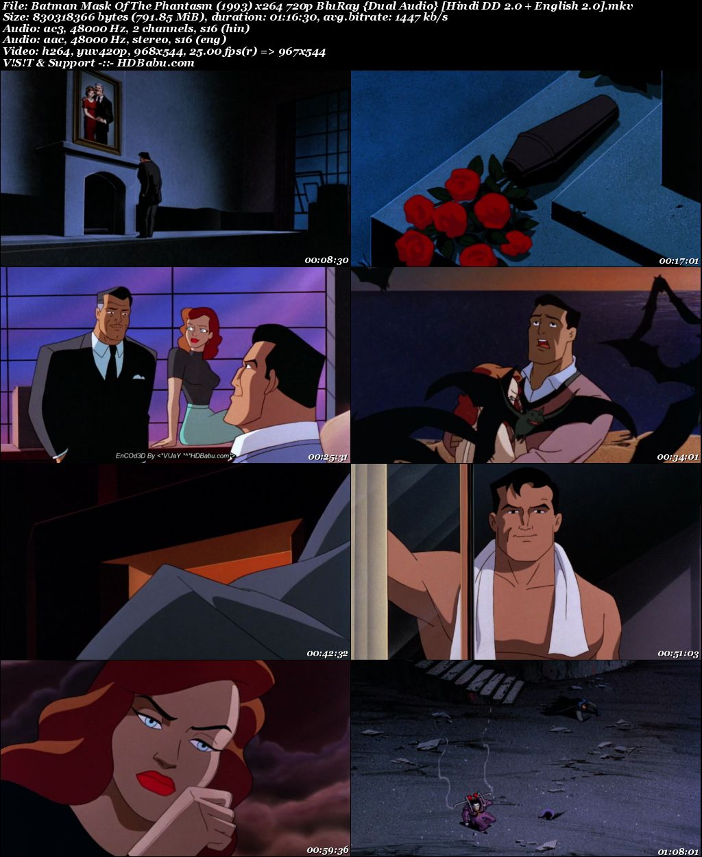 Batman Mask Of The Phantasm (1993) x264 720p BluRay {Dual Audio} [Hindi DD 2.0 + English 2.0] Screenshot