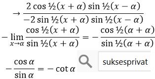 limit trigonometri mendekati phi