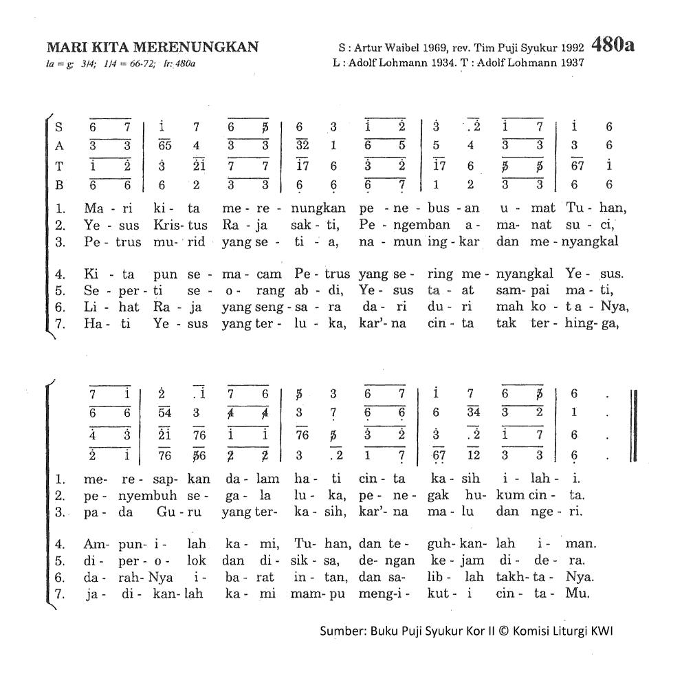 Chord Gitar Lagu Rohani Dia Raja: Lirik Dan Chord Lagu Mari Kita Merenungkan