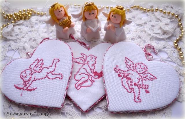 Ангелы в сердечках