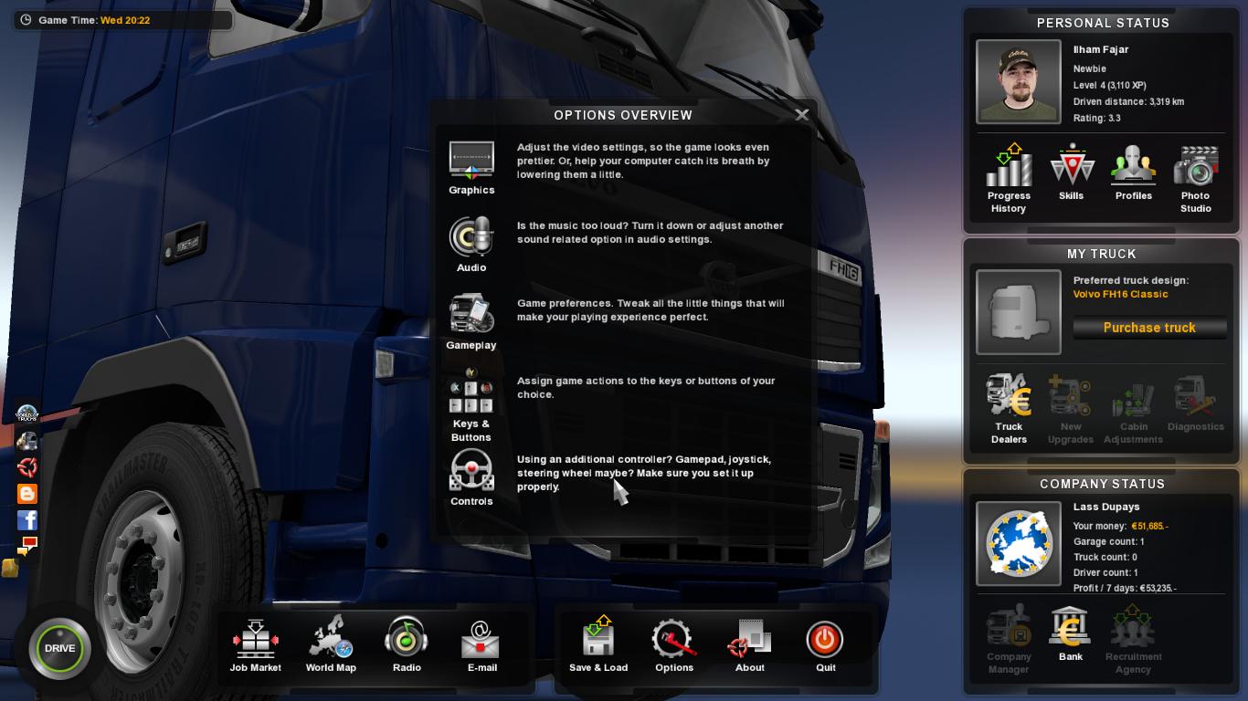 Tang Di Blog Saya Lass Dupays Selamat Da Ets2 Euro Truck Simulator 2 V130 Dan Mod Indonesia Buka Aplikasi Game