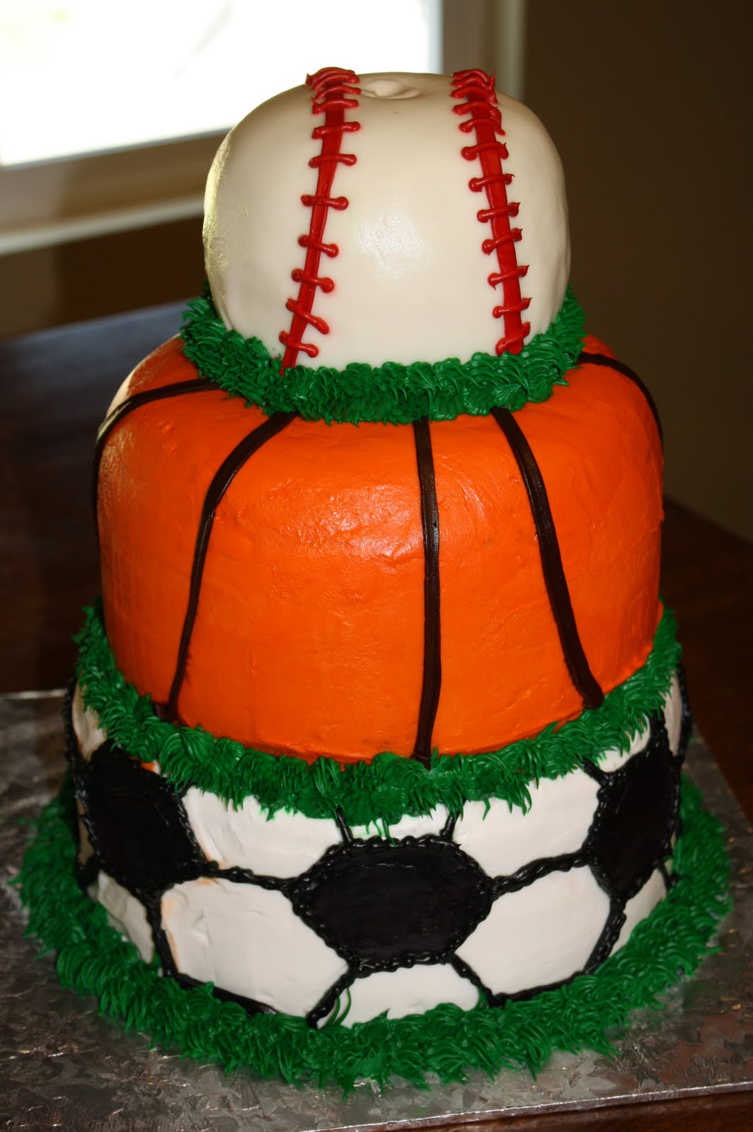 Shelli Belli Cakes Sports Lover Tiered Cake