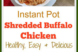 Juicy Instant Pot Shredded Buffalo Chicken Breast