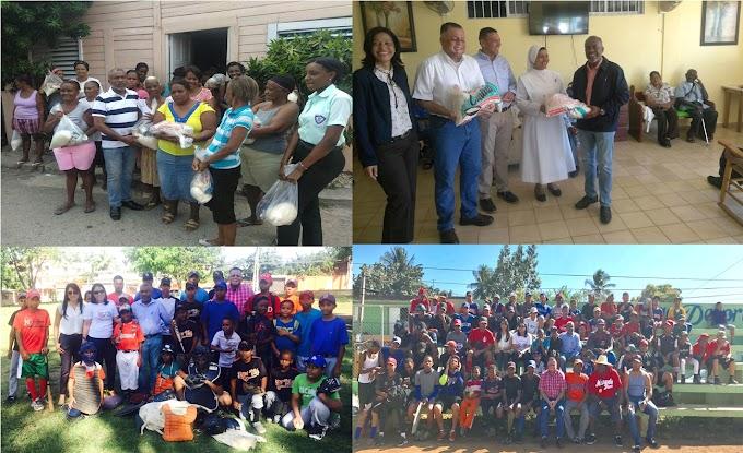 Consulado en Boston amplía obra social entregando comidas, ropas y útiles deportivos en provincias de RD