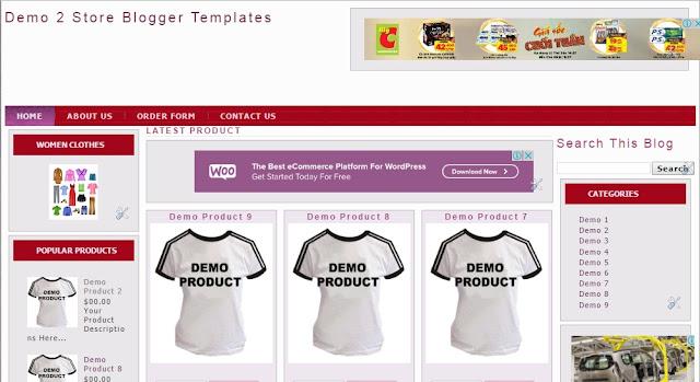 Share Template Blogspot bán hàng miễn phí cực đẹp