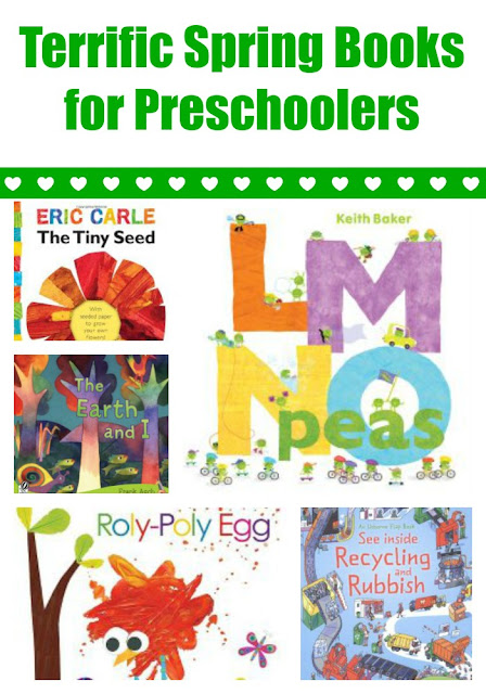 Spring books for preschoolers with extension activities