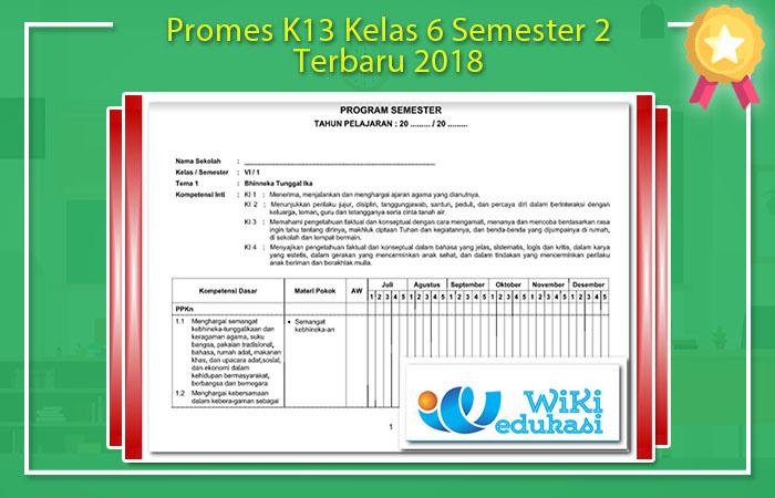 Promes K13 Kelas 6 Semester 2