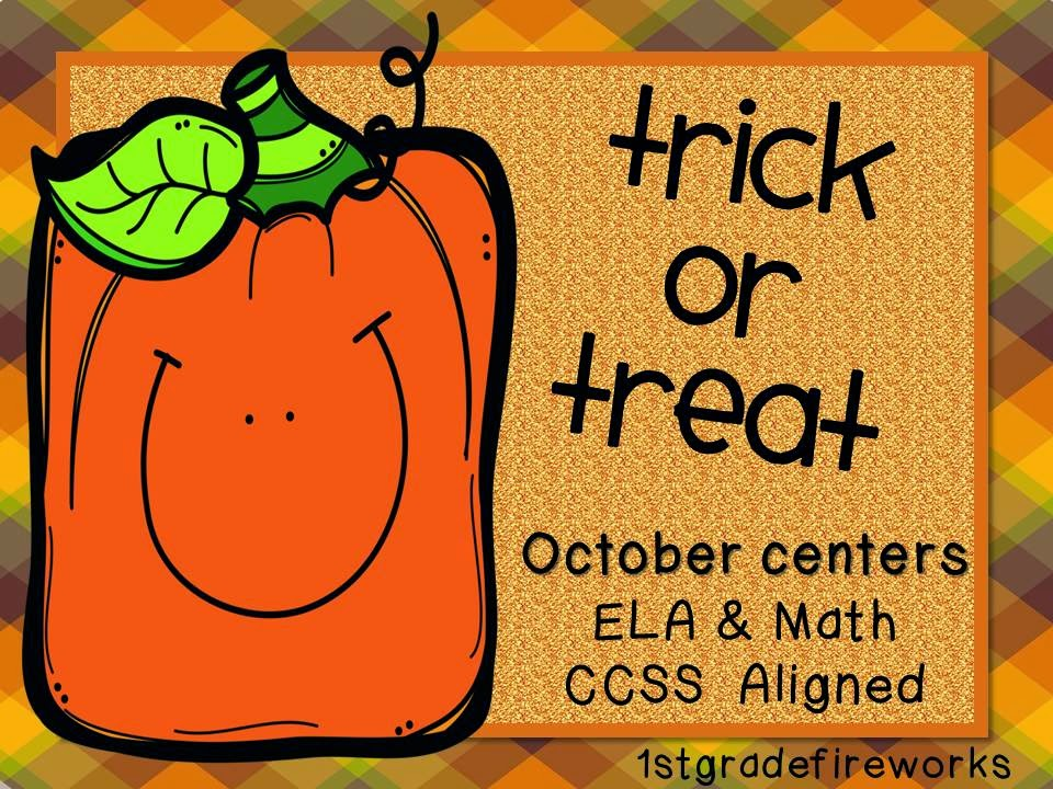 Trick or Treat October Centers from 1stgradefireworks