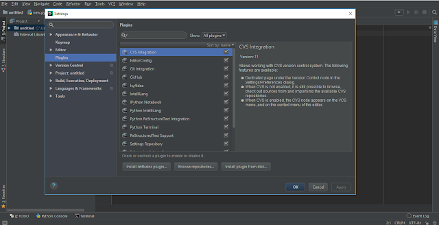 PyCharm File / Settings / Plugins