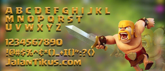 font clash of clans